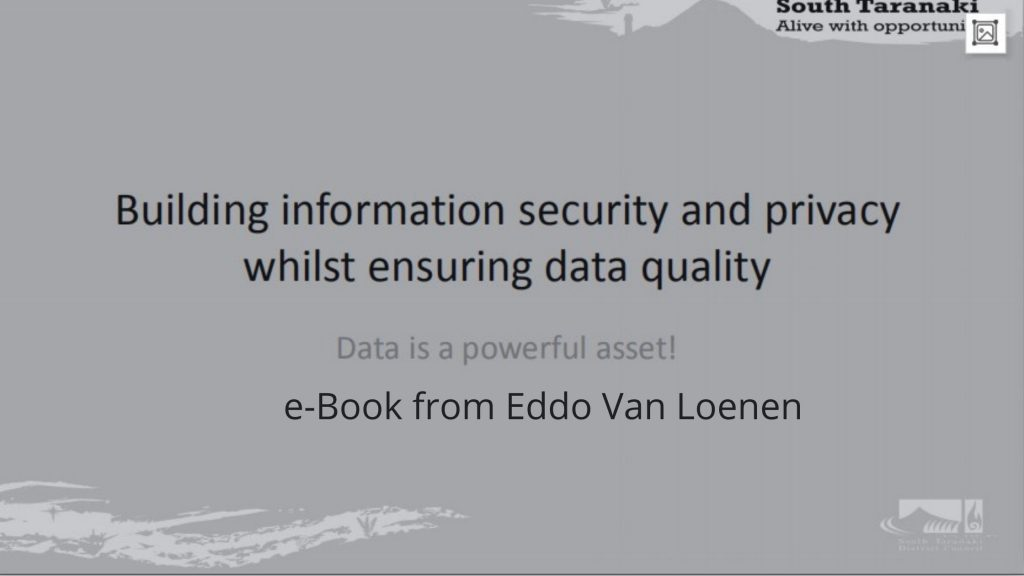 Building information security and privacy whilst ensuring data quality